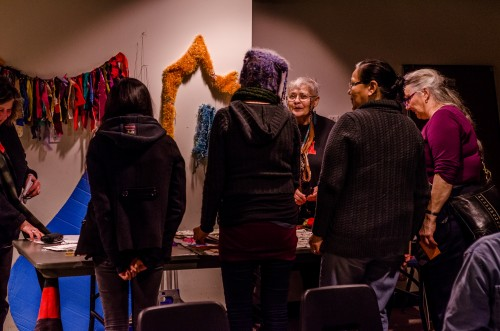 Eco Artists Showcase at the January Salon. Photograph by Ivan Yastrebov.