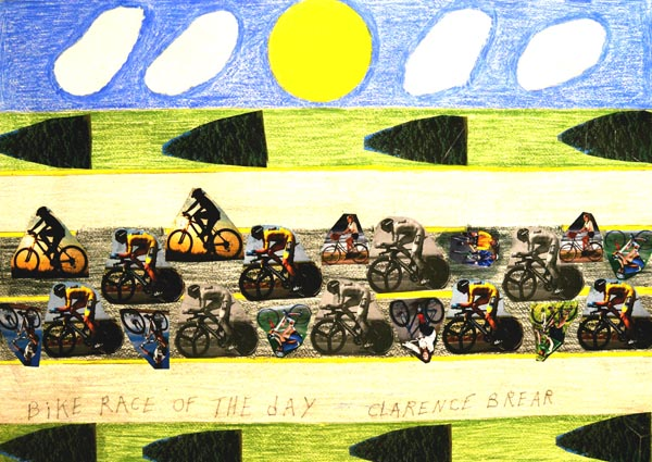 Bike Race by Clarence Brear, artist