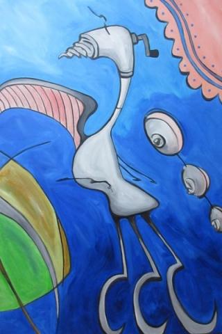 Bird Woman by Sandra Yuen MacKay, artist