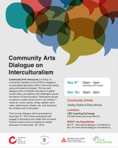 Community Arts Dialogue on Interculturalism