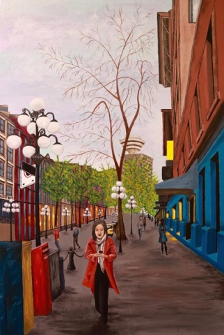 Gastown Moments I by Stella Castell, artist