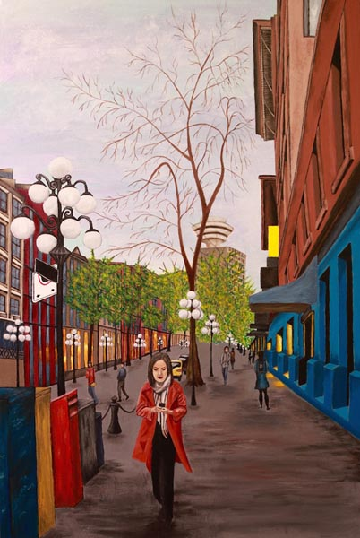 Gastown Moments I by Stella Castell, artist