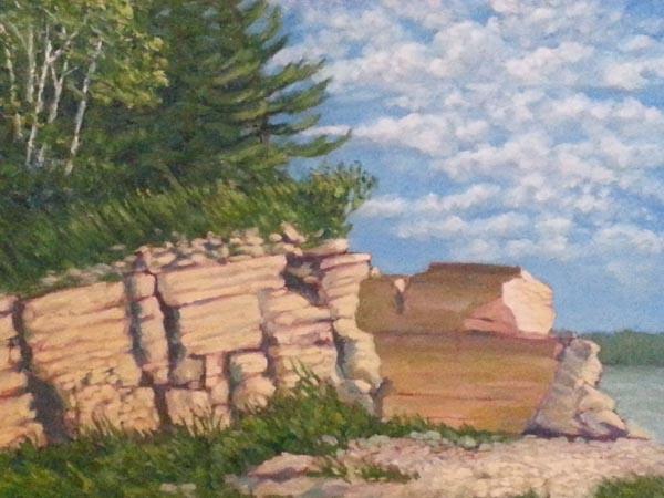 Hecla Island Quarry by Richard Hildebrandt, artist