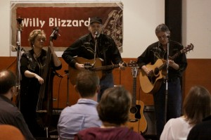 Willy Blizzard performs at the November Eco-Arts Salon. Photograph by Eryne Donahue 2012.