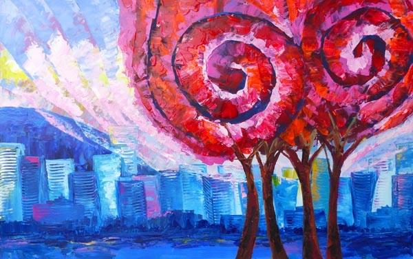 Waltz and City by Olga Evseeva, artist