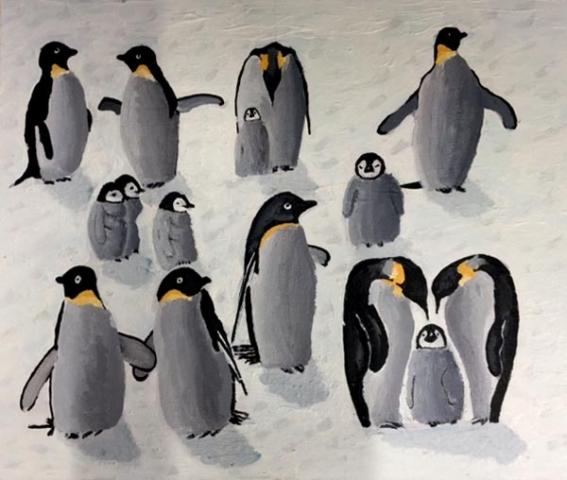 Community Penguins by Michelle Harris, artist