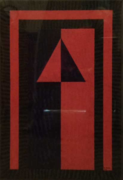Red and Blue Triangle by Benjamin Young, artist