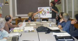Lena Felde presenting to the CACV board, October, 2010
