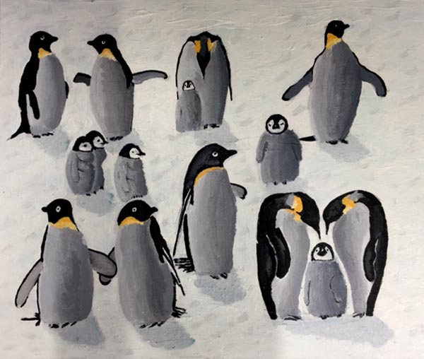 Community Penguins by Michelle Harris, artist
